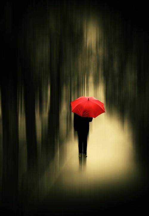 guarda-chuva-vermelho